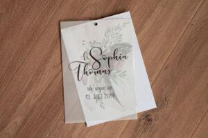 Glücksmomente mit Transparentpapier und Nietung