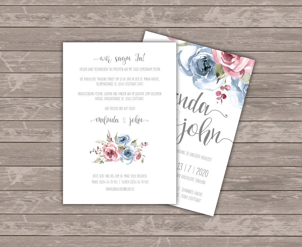 Mrs. Farbenfroh Sweetheart Einladungskarte