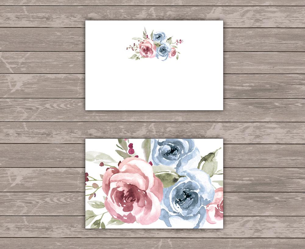 Mrs. Farbenfroh Sweetheart Platzkarten
