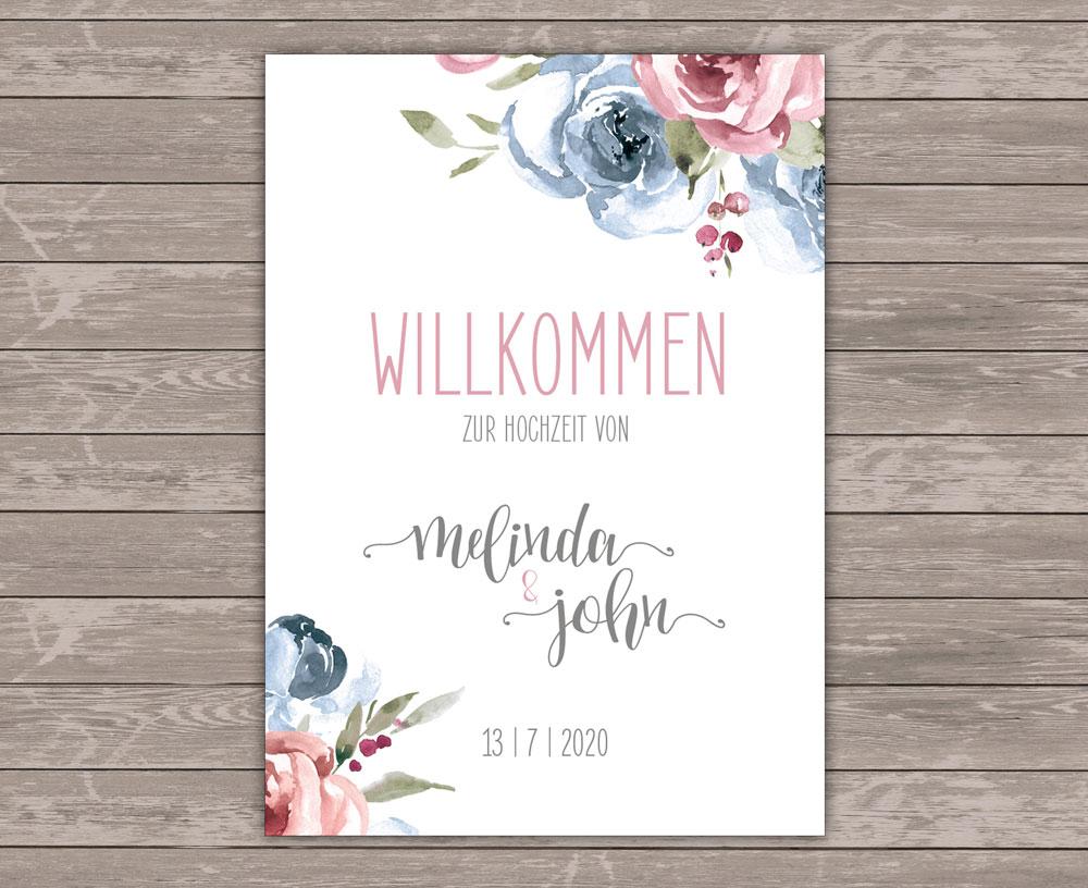 Mrs. Farbenfroh Sweetheart Willkommen Plakat