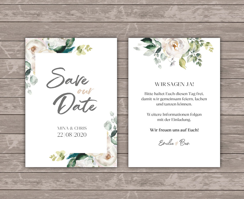 Graceful Bloom Save the Date